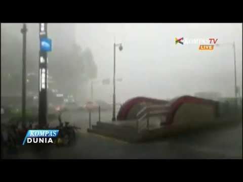 Hujan Deras dan Badai Petir Landa Tiongkok