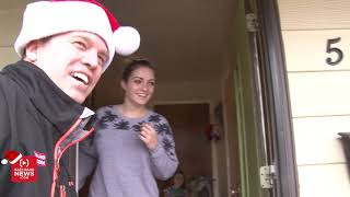 Young couple facing hardship breaks down when they receive a gift from Secret Santa