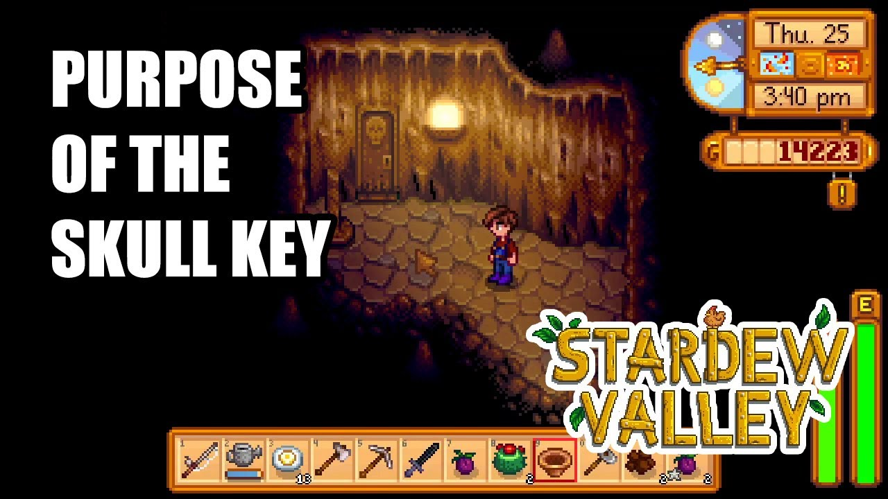 Discover The Purpose Of The Skull Key Stardew Valley Youtube The skull cavern is a cave located in the northwestern corner of calico desert and contains some of the best loot in stardew valley. discover the purpose of the skull key stardew valley