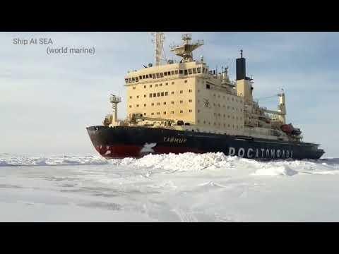 Biggest Ice breaker vessel moves forward at Antarctica