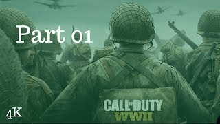 CALL OF DUTY WW2 Walkthrough Gameplay Part 1 - (D- Day) - Campaign Mission 1 (COD World War 2)