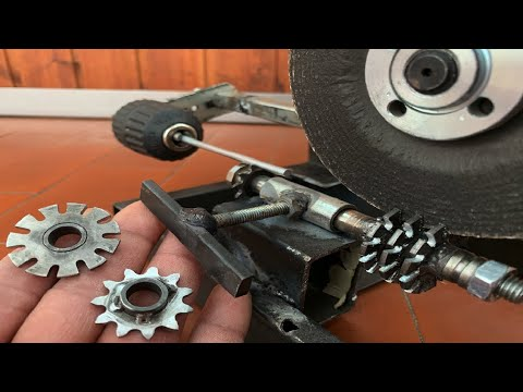 maquina de fazer engrenagem caseira DIY, GEAR MAKING MACHINE, ideias e inventos - Ronaldo coelho Creative