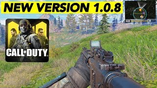 NEW UPDATE! VERSION 1.0.8 + GAMEPLAY! | CALL OF DUTY MOBILE