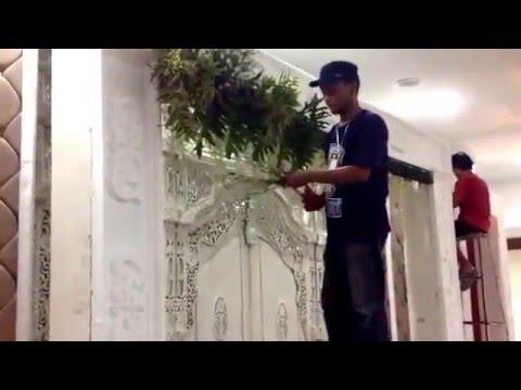 Cara Merangkai Bunga Pelaminan Satya 0811293008 Youtube