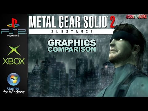 Metal Gear Solid 2 Substance | Graphics Comparison | ( PS2 , Xbox, PC )
