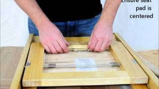 Midas Event Supply Classic Wood Folding Chair Seat Pad Assembly Instructions Video