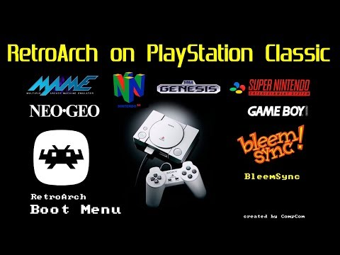 "How to install RetroArch ""BETA"" on the PlayStation Classic play N64,MAME,NEO GEO,SEGA & MORE thumbnail"