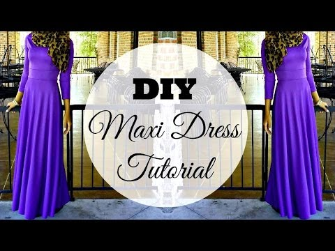 DIY | How to Make a Maxi Dress | Circle Skirt