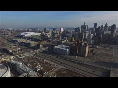 Aerial Drone Tour of Detroit: Winter 2016/2017!