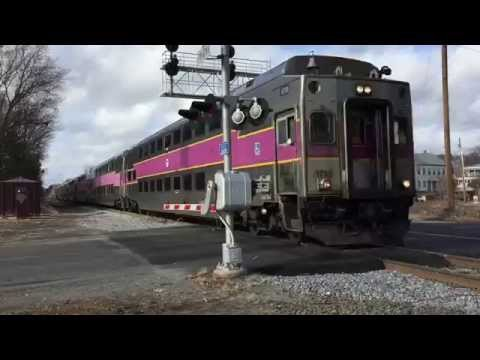 MBTA Trains & Lake Shore Limited in Ashland, MA