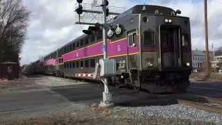 MBTA Trains & Lake Shore Limited in Ashland, MA