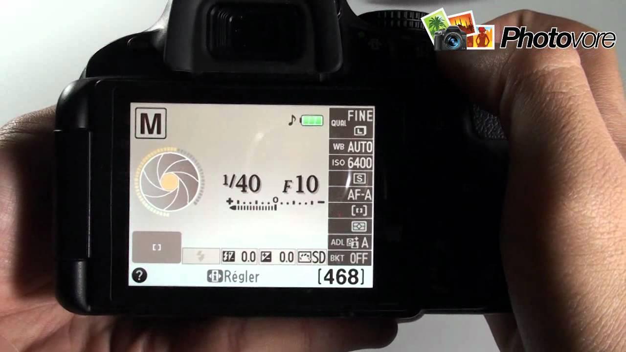 nikon d5100 démonstration prise en main test youtube