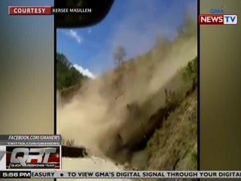 QRT: Pagguho ng lupa sa Buguias, Benguet, nasaksihan ng mga sakay ng stranded na bus