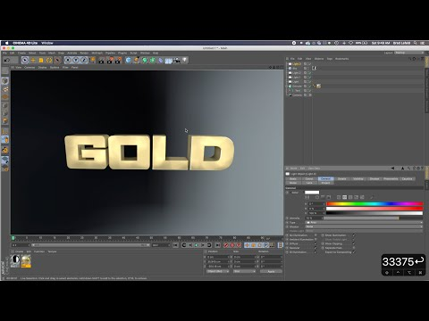 How To Create Basic 3D Metallic Text In Cinema 4D Lite