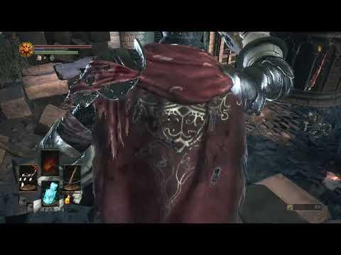 DARK SOULS III 黑魂3 等級1 武器+0 十全老人外鄉殺征戰騎士拿冰刺劍 - YouTube