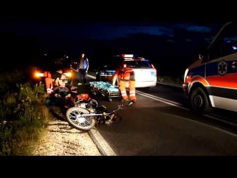 Wypadek motocyklisty koło Sitna