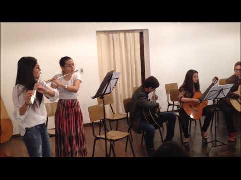 Apresentação dos alunos - classe de violão, Prados 2016