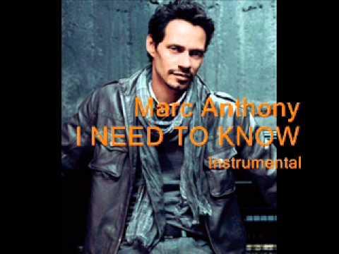 Marc Anthony - I Need You (Instrumental Karaoke Sing-A-Long)