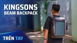 Trên tay balo pin mặt trời Kingsons Beam Backpack