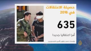 الاعتقالات الإسرائيلية للفلسطينيين خلال 2016
