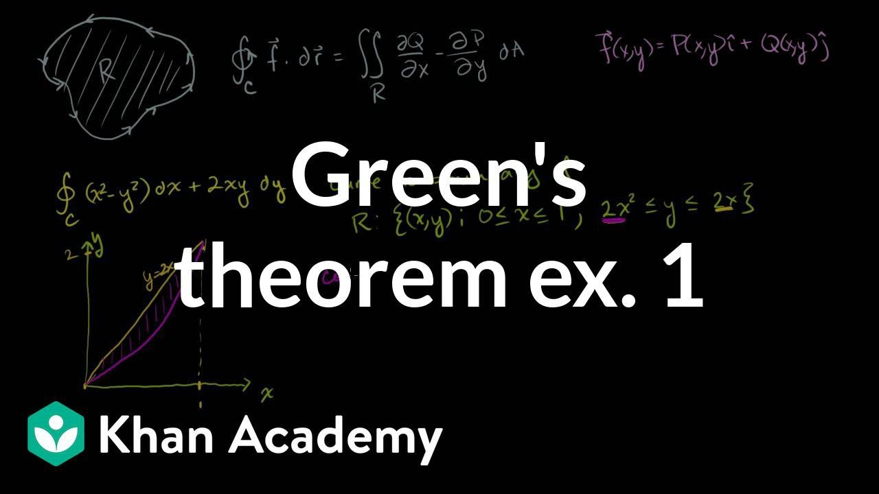 Green's theorem example 1 (video) | Khan Academy