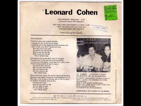 """Leonard Cohen """"Memories"""""""