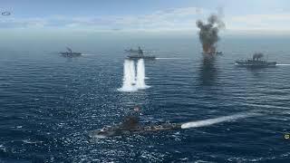 german Warships Vs British Convoy   Atlantic Fleet Sinking Ships
