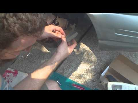 Replacing front Brake Pads on a 97 Dodge Stratus Travel Video