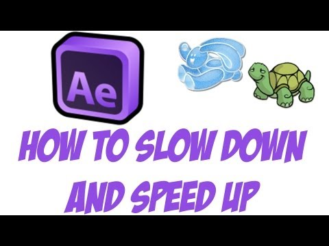 How To Slow Down and Speed Up Video In After Effects - After Effects Tutorials