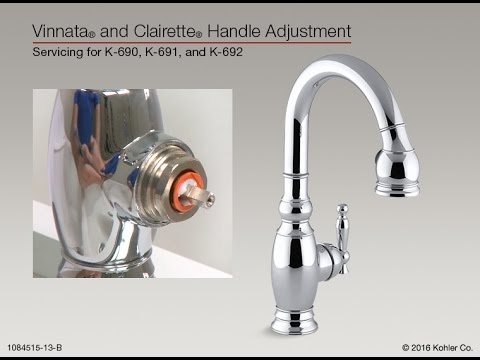handle adjustment for vinnata and clairette pull down kitchen sink faucets