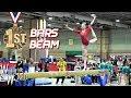 Whitney Bjerken | 2nd Level 10 Gymnastics Meet | Bars & Beam Champion