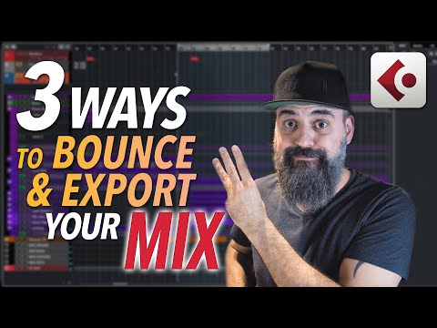 3 WAYS to BOUNCE and EXPORT your mix in CUBASE