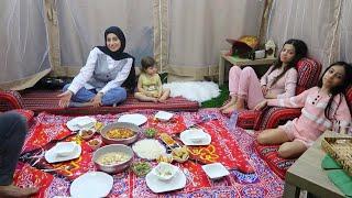 سفرة رمضان في الخيمة 🌙!!