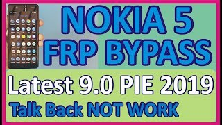 Nokia 5 FRP Bypass | Android 9.0 PIE | Talk Back Not Working | Without PC | BOX