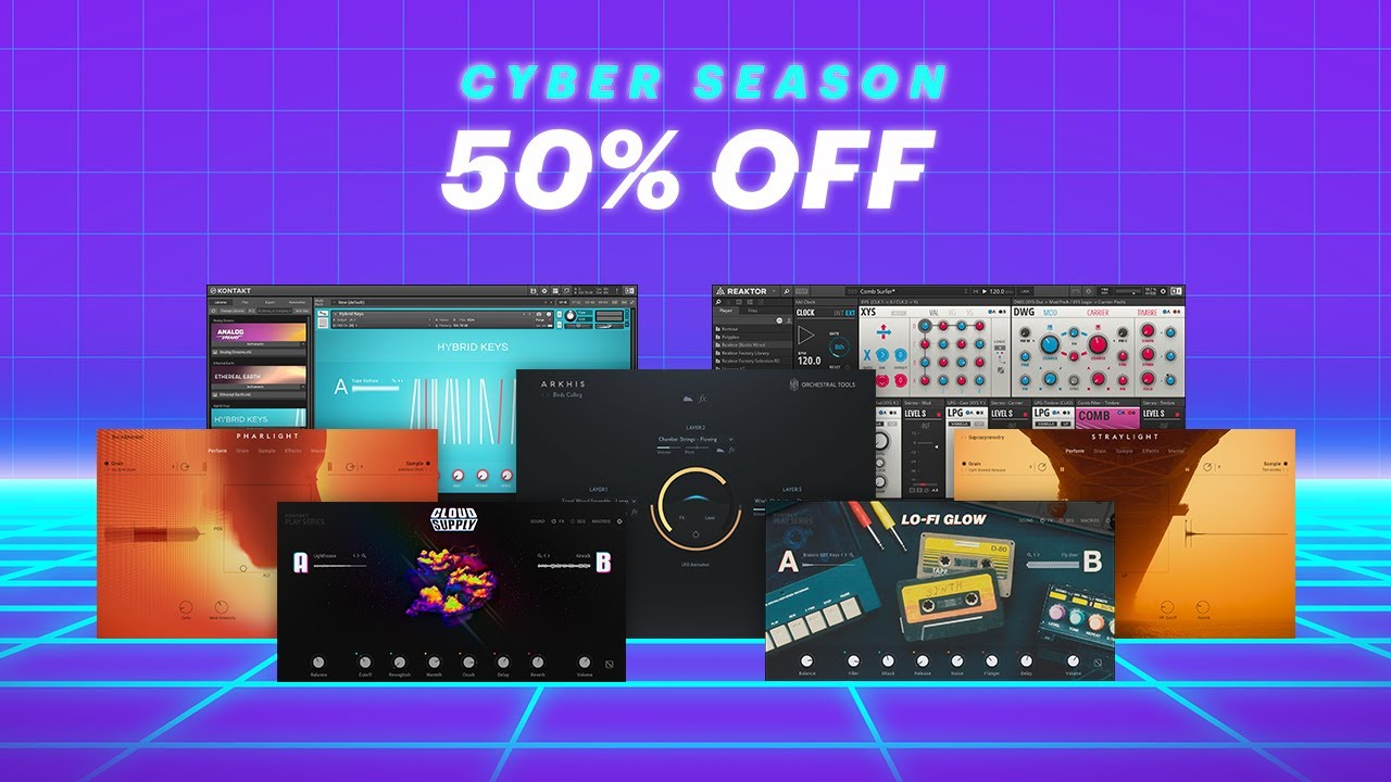 CYBER SEASON Sale: 50% off 190+ instruments, effects, and Expansions | Native Instruments