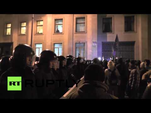Ukraine: Protesters march with message for the President