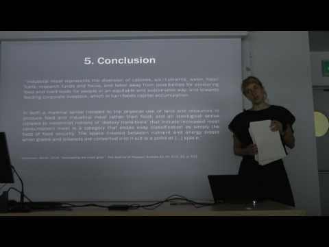 """Seminar """"The Livestock Revolution"""", Livia Boscardin (Basel University) Part 2 of 2"""