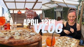 APRIL 12th VLOG OMG: Italian Truffle Pizza, Shopping On King's Road, Back To The Gym Fears & Pub!!!