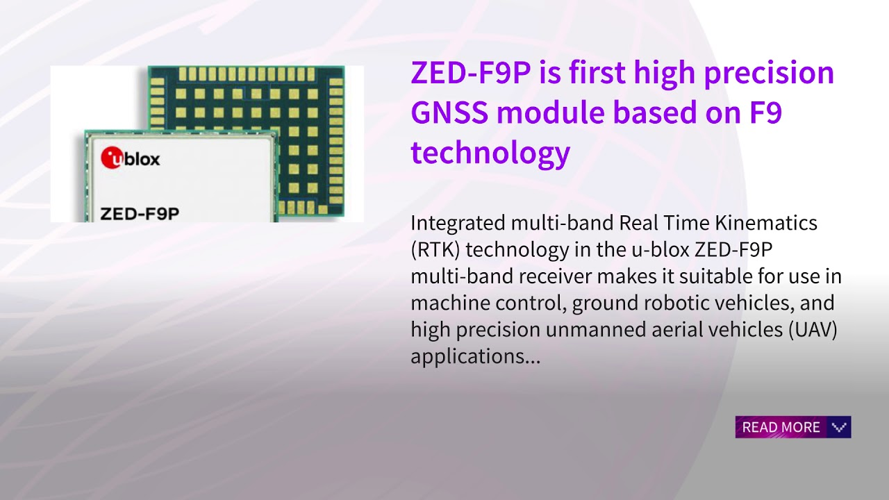 ZED-F9P is first high precision GNSS module based on F9 technology