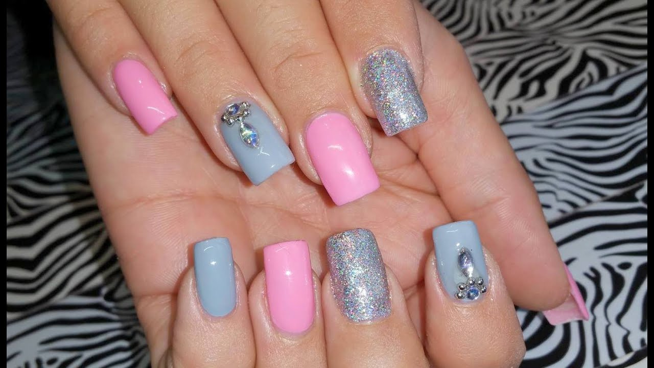 Pink And Grey Nail Designs