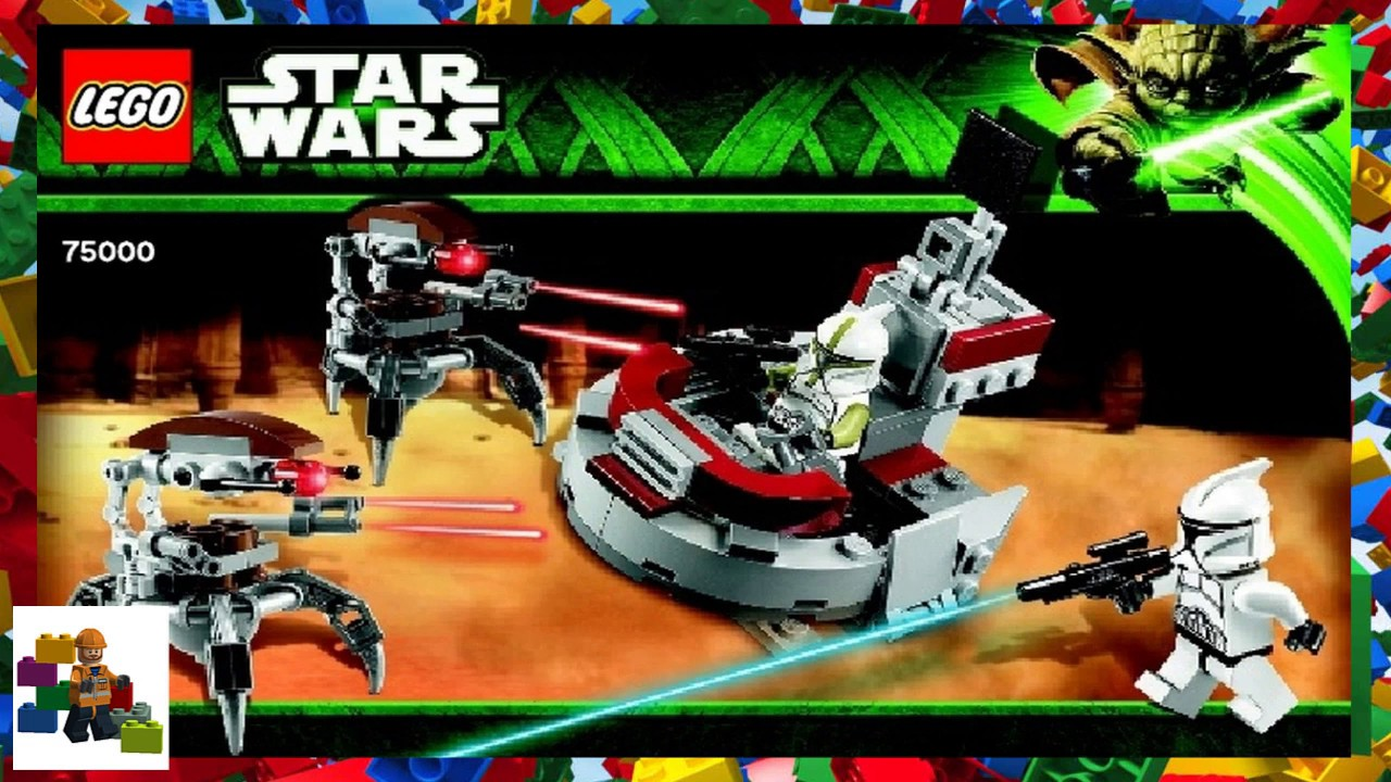 Lego Instructions Star Wars 75000 Clone Troopers Vs Droidekas