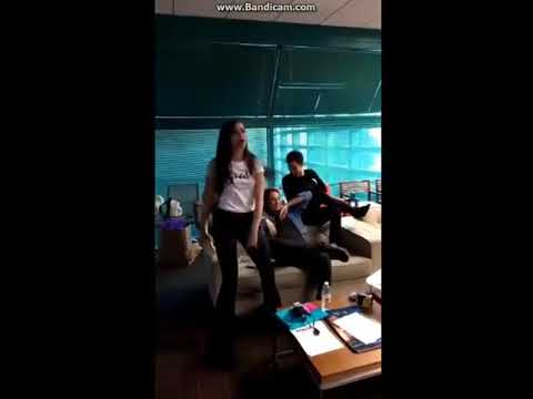 Sofia Carson and her friends celebrate by singing ' Chillin Like a Villain