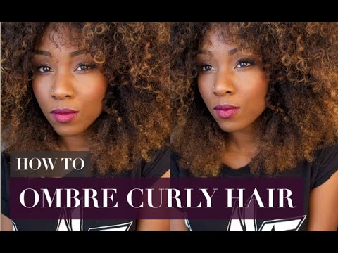 How To Color Hair At Home How To Ombre Curly Hair Youtube