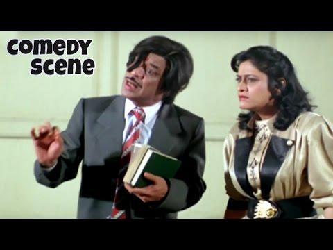 Jagdeep And Aruna Irani Funny Scene   Comedy Scene   Phool Aur Kaante   Hindi Film