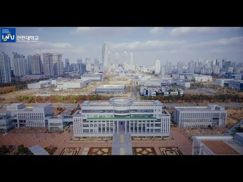 Incheon National University Campus Drone View (autumn)