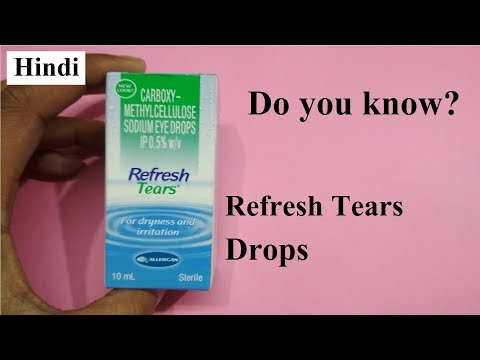 Relief for dry, irritated Eyes / Eye Drops Review in Hindi