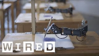 Meet the Robot Portrait Artists in this 'Robot Classroom' | WIRED