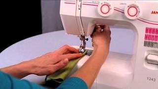 Уроки шитья Janome - строчка зигзаг (хлопок)