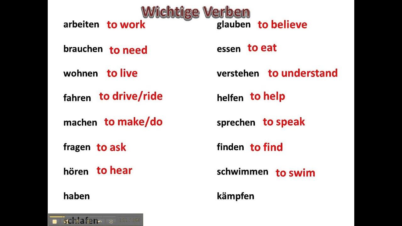 7 ways to a german language 2002 ford focus starter diagram basic verbs for beginners germanforspalding