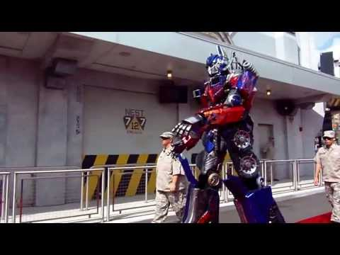 Transformers The Ride - 3D Orlando Grand Opening Part 2 - Optimus Prime